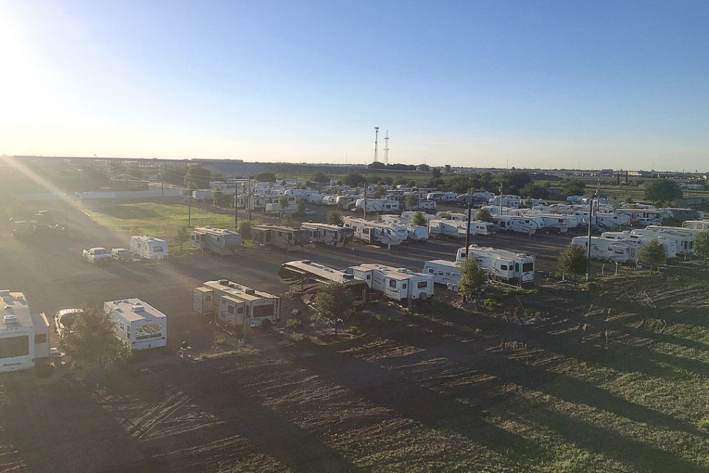 Aerial View of Stanley RV Park in Midland, TX